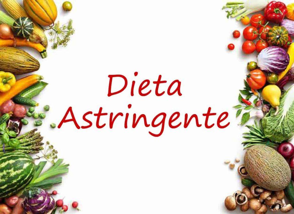cual es la dieta astringente
