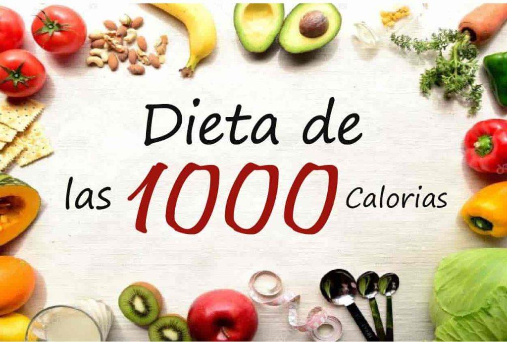 dieta 1000 kcal diarias