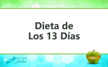 la dieta de los 13 dias