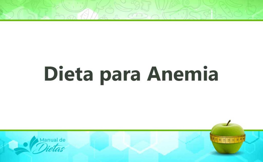 Para anemia severa dieta
