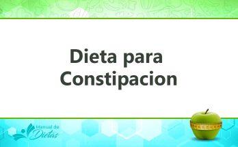 La Dieta para Constipacion