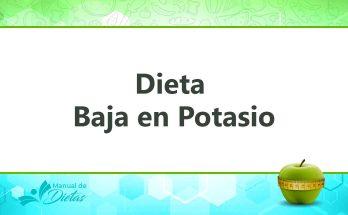 la dieta baja en potasio